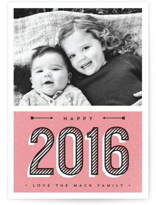Modern Stripes New Year's Photo Cards