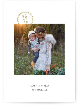 Stamped New Year's Photo Cards