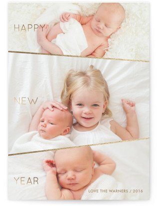 Three's the Charm New Year's Photo Cards