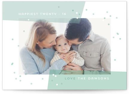 Vellum confetti New Year's Photo Cards