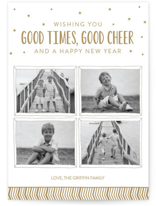 Good Times New Year's Photo Cards