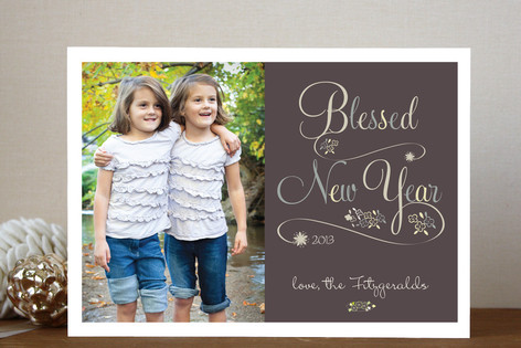 Blessed New Year New Year Photo Cards