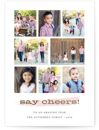 Say Cheers! New Year's Photo Cards