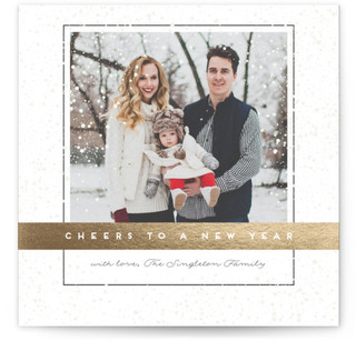 New Year's Snow New Year's Photo Cards