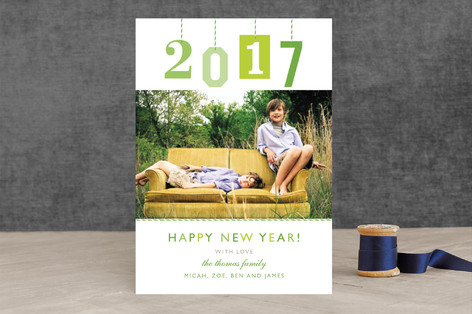 New Year Gift Tag New Year Photo Cards