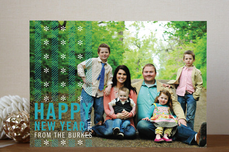 Merry Candy Stripes New Year Photo Cards