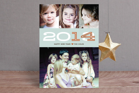 Hip New Year New Year Photo Cards