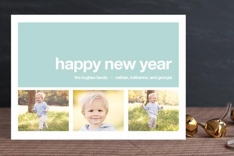Modern Joy New Year Photo Cards