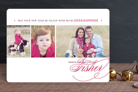 Love & Happiness New Year Photo Cards