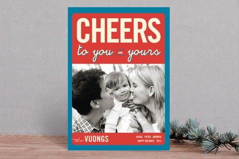 Float + Cheers to You New Year Photo Cards