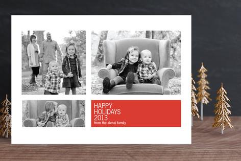 Modern Geometric Group New Year Photo Cards