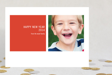 Modern Geometric New Year Photo Cards