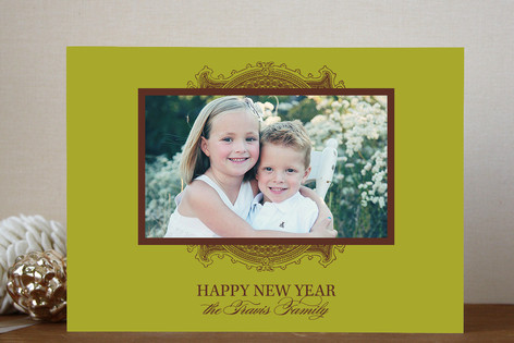 Ornate Frame New Year Photo Cards