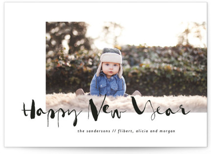 Modern Ink New Year's Photo Cards