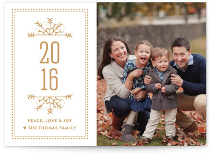 New Snowflakes New Year's Photo Cards
