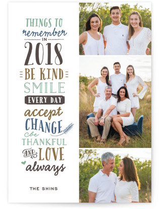 New Year's Sentiment New Year's Photo Cards
