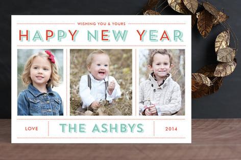 Bold & Bright Holiday New Year Photo Cards