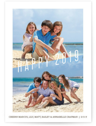 Modern Holiday New Year's Photo Cards