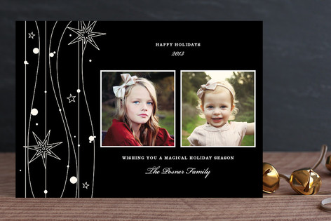 Twilight Stars New Year Photo Cards