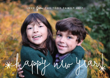 Simple Fun New Year's Photo Cards