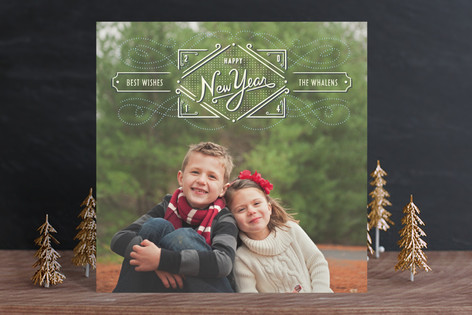 Fresh Greetings New Year Photo Cards