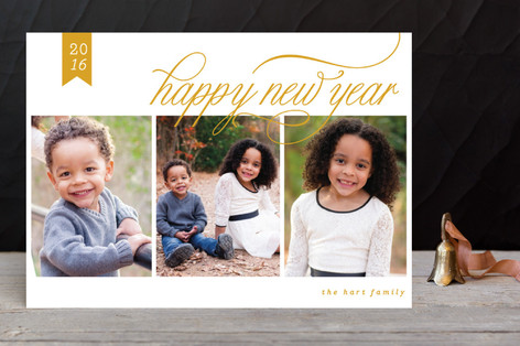 Classic New Year New Year Photo Cards