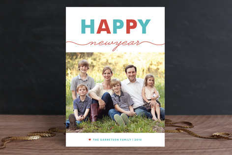 Lively New Year New Year Photo Cards