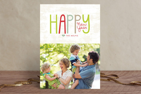 Colorful New Year New Year Photo Cards