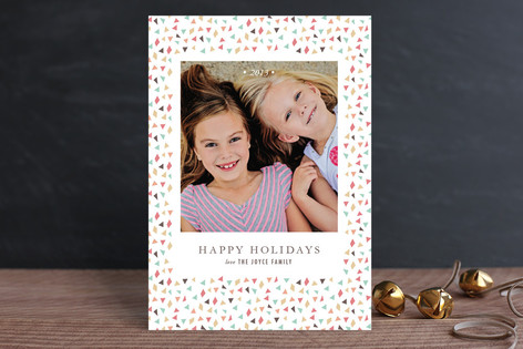 Confetti New Year New Year Photo Cards