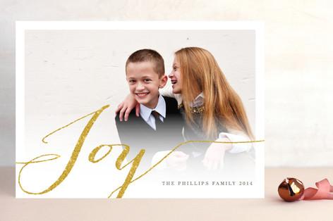 Shimmering Joy New Year Photo Cards