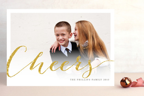Shimmering Joy New Year Photo Cards