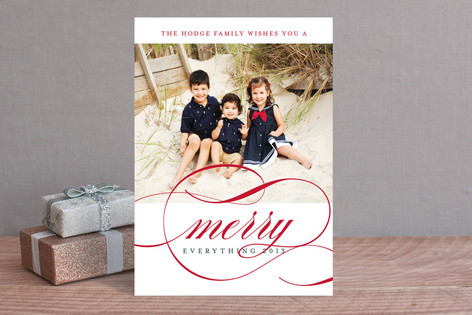 Classic Stripes and Swashes New Year Photo Cards