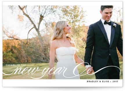 Married + Bright New Year's Photo Cards