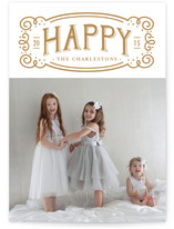 Happy Vintage Label by Frooted Design