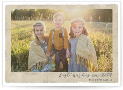 Deckled Merrier than Ever New Year's Photo Cards