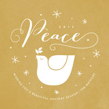 Golden Peace Holiday Ornament Cards