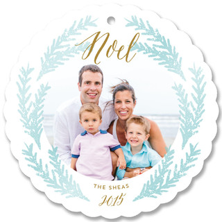 Soft Painted Wreath Holiday Ornament Cards