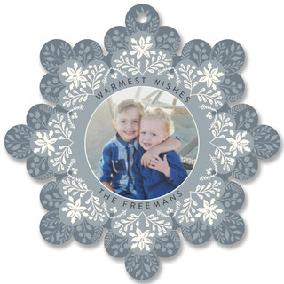 Snowflake Holiday Ornament Cards