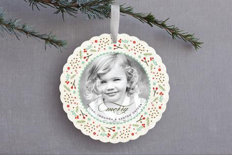 Woodland Wreath Holiday Ornament Cards