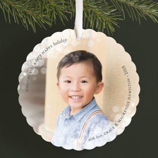 Dazzling Holiday Ornament Cards