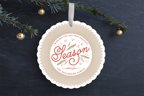 Warmly Wished Holiday Ornament Cards