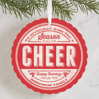 Cheer Stamp Holiday Ornament Cards