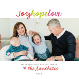 Joy Hope Love Holiday Ornament Cards