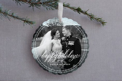 Frosted Vignette Holiday Ornament Cards
