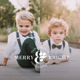 Ampersand Duo Holiday Ornament Cards