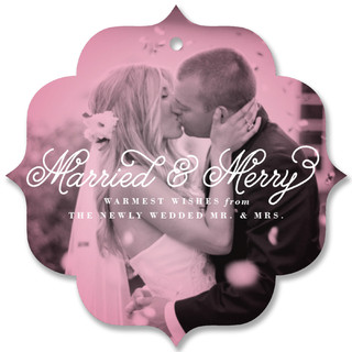 Married and Merry Holiday Ornament Cards
