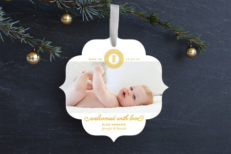 Merry Little One Holiday Ornament Cards