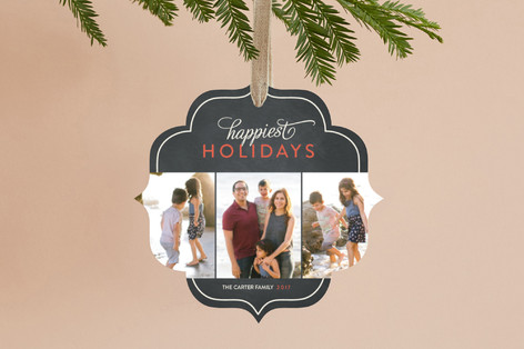 Classic Happiest Holiday Ornament Cards