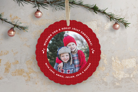 Graphic Holiday Holiday Ornament Cards