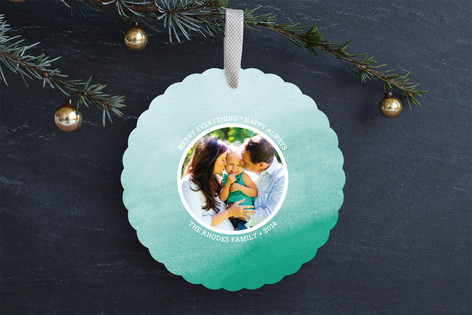 Frosted Ombre Holiday Ornament Cards